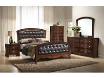 NEW WOOD 6 PC  BEDROOM SET  $40.00 Down. Take Home Today!! in Warner Robins, Georgia