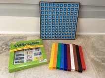 Unifix 100 Colorful Counting Cubes + Number Grid in St. Charles, Illinois