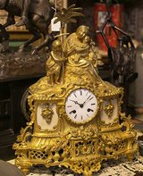 ANTIQUE FRENCH PENDULUM / MANTEL CLOCK MOTOV: FLIGHT FROM EGYPT 1840 in Stuttgart, GE