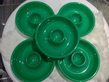 3 Green Chip n Dip Party Platter Plate in Fort Campbell, Kentucky