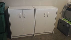 Two White Cabinets in Fort Lewis, Washington