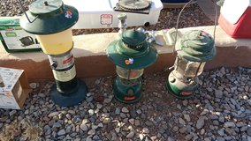 Coleman lanterns in Alamogordo, New Mexico