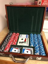 Deluxe Poker Chip & Card Set in Wooden Box in Chicago, Illinois
