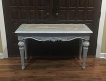 sofa  table / entry table  vanity desk / gray white glazed farm style top in Naperville, Illinois