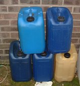 EMPTY PLASTIC DRUMS X 5 in Lakenheath, UK