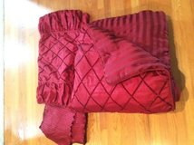 King comforter, bed skirt and 2 pillow shams in Chicago, Illinois