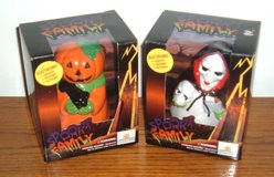 NEW (2) Spooky Family Pumpkin & Skeleton Electronic Lights Sound & Action in Morris, Illinois