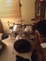 Tama Rock Star 5 piece chrome drum set with Hardware in Orland Park, Illinois
