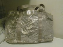 Sparkly Silver Zippered Carry-All Bag With 2 Handles in Orland Park, Illinois