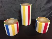 Striped Pillar Candles in Lockport, Illinois