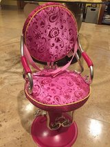 """Beauty Salon Shop Chair Battat fits 18"""" American Girl doll Our Generation Hot Pink in Plainfield, Illinois"""