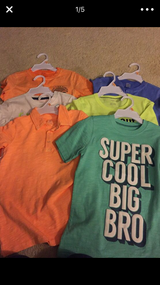 6 Carters boys shirt size 7 NeW in Lockport, Illinois
