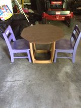 KIDS TABLE AND 2 SOLID OAK CHAIRS in Fort Riley, Kansas