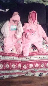 Snowsuits 6-12mos. or Cold weather coveralls Baby Girls Like NEW! Beautiful Pink..Okie Dokie in Fort Campbell, Kentucky