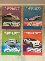 Set of 4 Picture Books about Fast Vehicles (Boats, Trains, Cars & Planes) in Chicago, Illinois