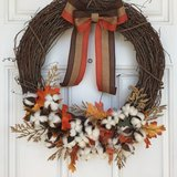 Rustic Fall Wreath in Beaufort, South Carolina