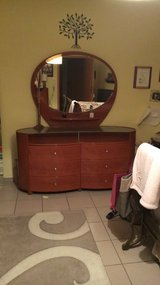 cherry double-dresser & mirror PRICE REDUCED in Ramstein, Germany