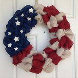 Veterans Day Flag Wreath in Beaufort, South Carolina