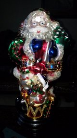 Large Santa glass decor in Aurora, Illinois