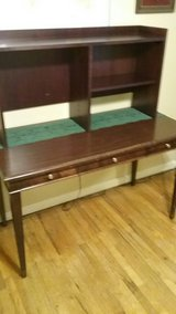 Cherry Wood Table Desk and Hutch in Byron, Georgia