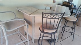 Outdoor Patio Bar Set with 3 chairs and Stool in Alamogordo, New Mexico