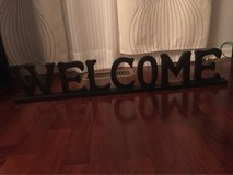 """Welcome Sing For Home Decoration 34""""x6,5"""" in Aurora, Illinois"""
