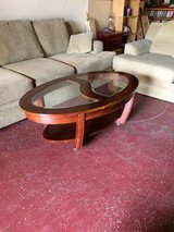 Nice Glass and Wood Coffee Table in Fort Polk, Louisiana