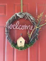 welcome wreath in Travis AFB, California