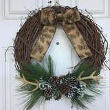 Rustic Christmas Wreath in Beaufort, South Carolina