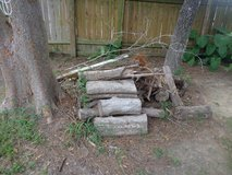 Free Outdoor scrap wood cut up trees & decking piece in Kingwood, Texas