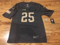 "RICHARD SHERMAN ""Salute to Service"" Stitched Nike jersey (Men's Small) *** NEW with Tags in Tacoma, Washington"