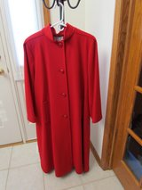 Red Wool Dress Coat in Palatine, Illinois