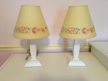 Pottery Barn Kids Lamp - White Wooden Base with Yellow Shade in Westmont, Illinois