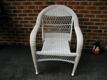 White Wicker Chair - Very Clean in Cherry Point, North Carolina