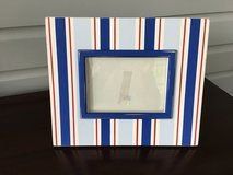 Large Decorative Wooden Picture Frame - Red & Blue;  5x7 Picture in Westmont, Illinois