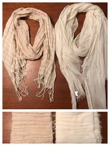 Two scarves- Gap cream & silver and tan & cream stripes in Byron, Georgia