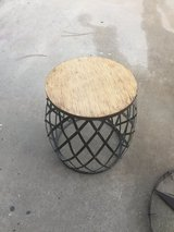 Metal / wood side table in Fort Polk, Louisiana