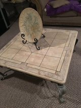 Three marmol tables in Glendale Heights, Illinois