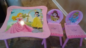 Princess desk with a storage bench in Fort Campbell, Kentucky