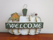 "Pumpkin ""Welcome"" Sign in Plainfield, Illinois"