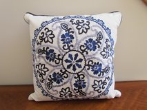 Blue Patterned Pillow in Elgin, Illinois