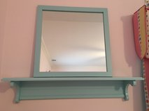 LAND OF NOD Matching Mirror + 3 Ft. Wall Shelf - Light Blue in Westmont, Illinois