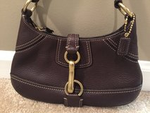 Coach Purse - Brown with Brass Buckle in Chicago, Illinois
