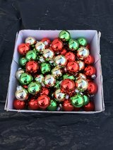 Glass Christmas ornaments (100) in Travis AFB, California