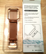 Fitbit blaze band and frame. Brown leather and rose gold frame. in Fort Campbell, Kentucky