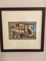 "Paris Wall Art: Pair of Framed Paris ""Vintage"" Postcards in Chicago, Illinois"