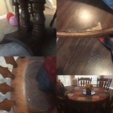1950s oak table and 5 chairs in Fort Carson, Colorado