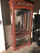 Mirrored glass display / china cabinet in Yucca Valley, California