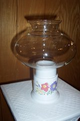 Vintage hurricane candle lamps in Conroe, Texas