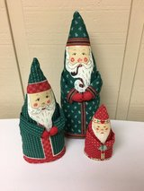 FABRIC SANTAS (3) in Oswego, Illinois